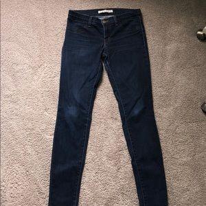 J Brand super skinny dark wash jeans